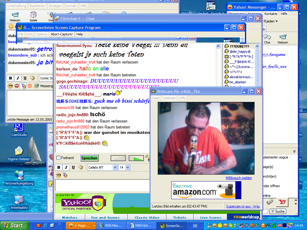 "Yahoo Chatroom ""Flirtchat:1"" 2005"