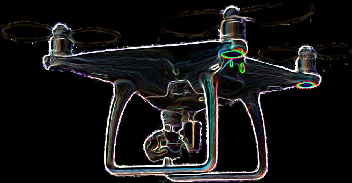 Glowing Mega-Drone – DJI Phantom 4