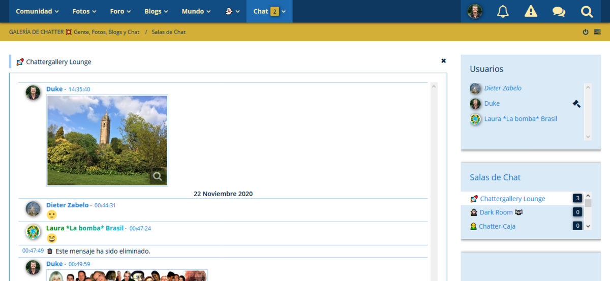 Publicar archivos adjuntos en la sala de chat