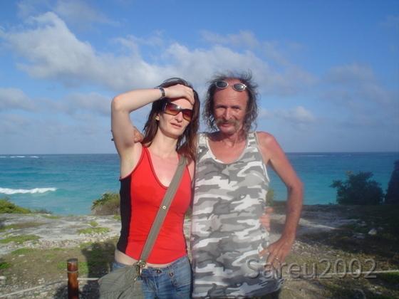 Sareu und Chica am Strand - Mexiko