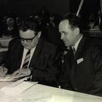 Franz Josef Strauss mit Hans Arendt - 16.12.1968