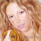 1_Shakira_Portrait_mit_Pastelkreide_artisti-konstantini.eu